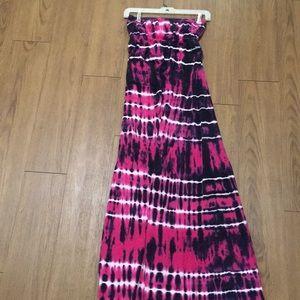 Hard tail tie dye maxi dress